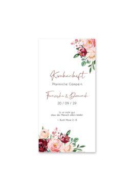 kirchenheft hochzeit vintage blumen rosa pastel aquarell hochzeitsgrafik onlineshop papeterie