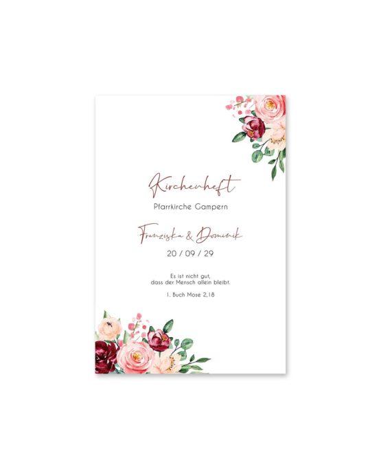 kirchenheft fächer hochzeit vintage blumen rosa pastel aquarell hochzeitsgrafik onlineshop papeterie