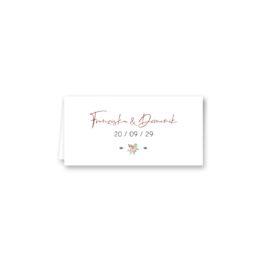 tischkarte klappkarte hochzeit vintage blumen rosa pastel aquarell hochzeitsgrafik onlineshop papeterie