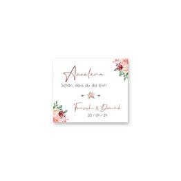 tischkarte hochzeit vintage blumen rosa pastel aquarell hochzeitsgrafik onlineshop papeterie