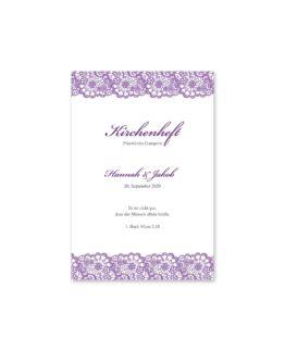 kirchenheft fächer hochzeit vintage spitze bordüre flieder lila hochzeitsgrafik onlineshop papeterie