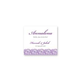 tischkarte hochzeit vintage spitze bordüre flieder lila hochzeitsgrafik onlineshop papeterie