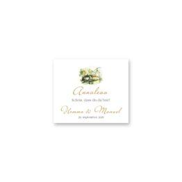 tischkarte hochzeit vintage schloss orth ort gmunden malerei aquarell salzkammergut hochzeitsgrafik onlineshop papeterie