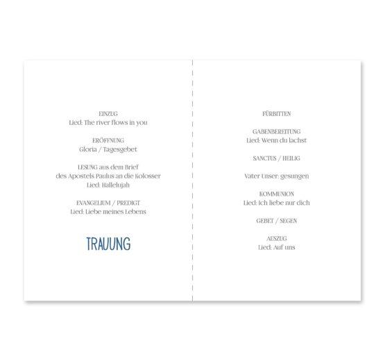 kirchenheft klappkarte hochzeit vintage aquarell blumen blau rot feder hochzeitsgrafik onlineshop papeterie