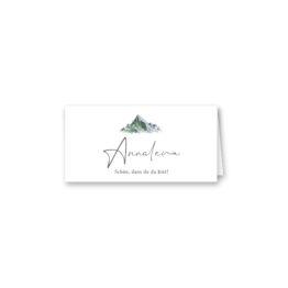 tischkarte klappkarte hochzeit vintage landschaft berg berge aquarell hochzeitsgrafik onlineshop papeterie