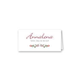 tischkarte klappkarte hochzeit vintage blumenkranz beere rosa rot herbst logo monogramm hochzeitsgrafik onlineshop papeterie