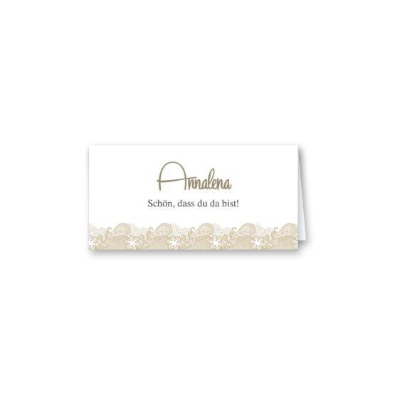 tischkarte klappkarte hochzeit vintage spitze bordüre braun hochzeitsgrafik onlineshop papeterie