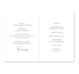 kirchenheft klappkarte hochzeit vintage blumenkranz grün rosa eucalyptus logo monogramm hochzeitsgrafik onlineshop papeterie