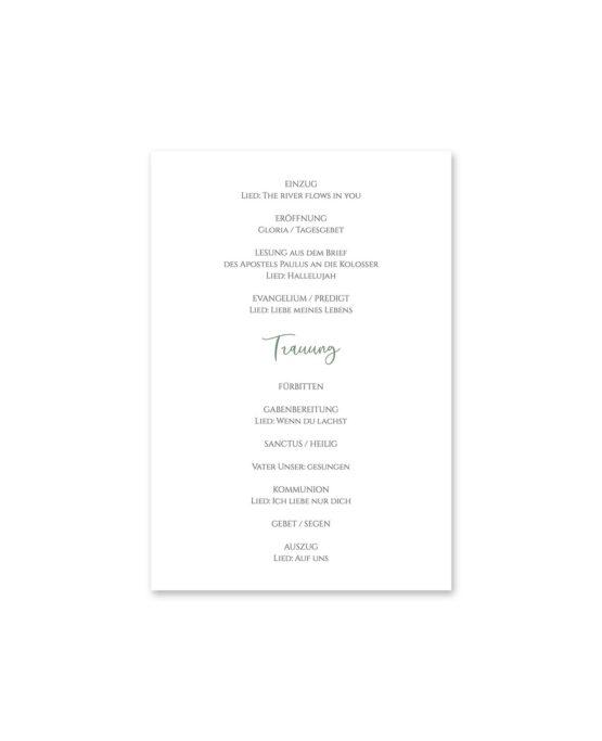 kirchenheft fächer hochzeit vintage blumenkranz grün rosa eucalyptus logo monogramm hochzeitsgrafik onlineshop papeterie