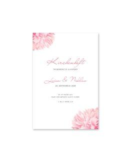 kirchenheft fächer hochzeit vintage blumen pfingstrosen rosa aquarell acyrl malerei hochzeitsgrafik onlineshop papeterie