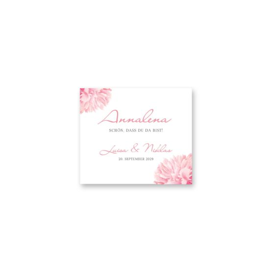 tischkarte hochzeit vintage blumen pfingstrosen rosa aquarell acyrl malerei hochzeitsgrafik onlineshop papeterie