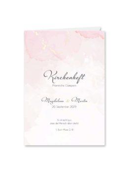 kirchenheft klappkarte hochzeit vintage watercolor gold rosa aquarell hochzeitsgrafik onlineshop papeterie