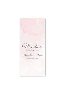 menükarte dreieck hochzeit vintage watercolor gold rosa aquarell hochzeitsgrafik onlineshop papeterie