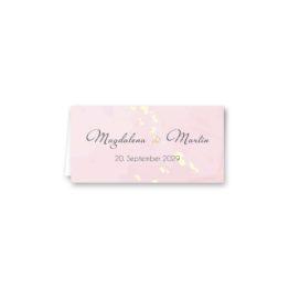 tischkarte klappkarte hochzeit vintage watercolor gold rosa aquarell hochzeitsgrafik onlineshop papeterie