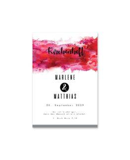 kirchenheft fächer hochzeit vintage farbenfroh watercolor beere pink lila hochzeitsgrafik onlineshop papeterie