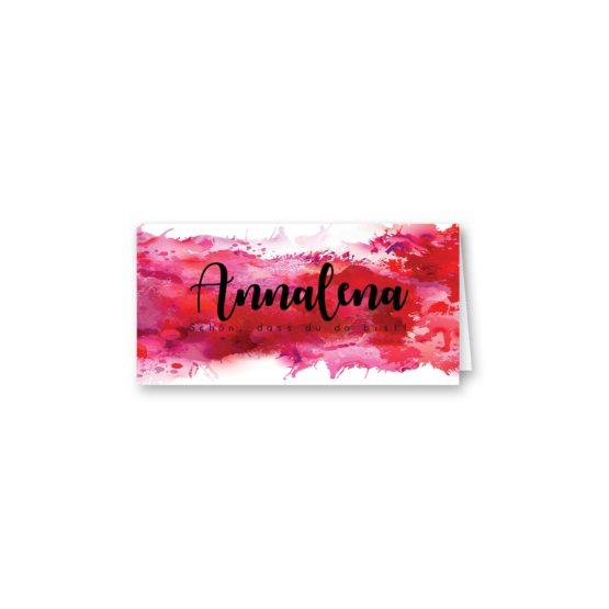 tischkarte klappkarte hochzeit vintage farbenfroh watercolor beere pink lila hochzeitsgrafik onlineshop papeterie