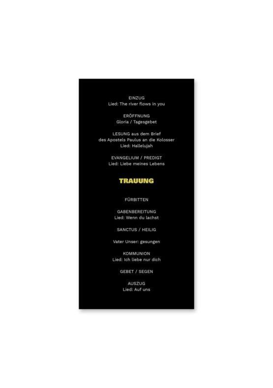 kirchenheft hochzeit elegant gold schwarz luster hochzeitsgrafik onlineshop papeterie