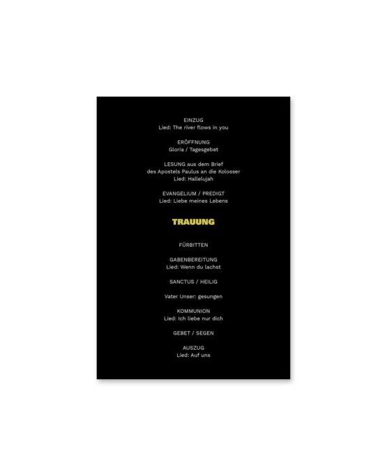 kirchenheft fächer hochzeit elegant gold schwarz luster hochzeitsgrafik onlineshop papeterie