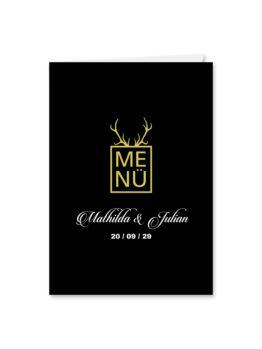 menükarte klappkarte hochzeit elegant gold schwarz luster hochzeitsgrafik onlineshop papeterie