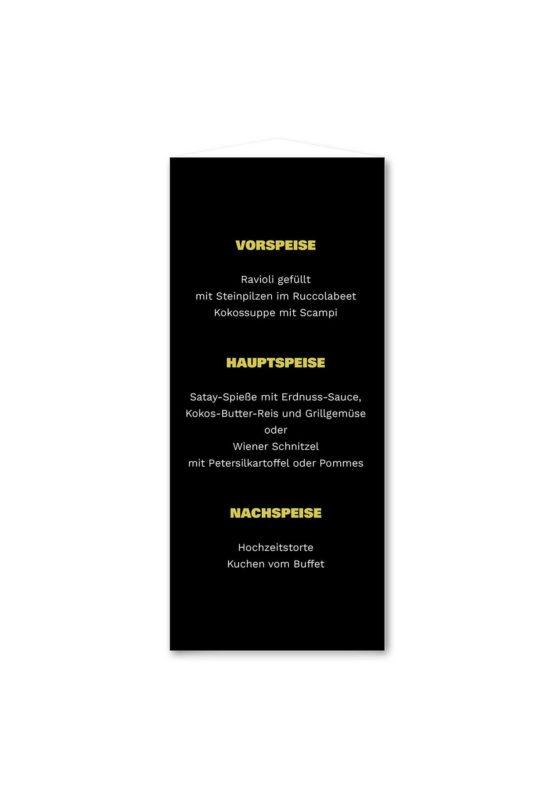 menükarte dreieck hochzeit elegant gold schwarz luster hochzeitsgrafik onlineshop papeterie