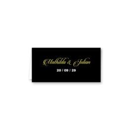 tischkarte klappkarte hochzeit elegant gold schwarz luster hochzeitsgrafik onlineshop papeterie