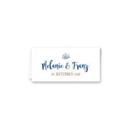 tischkarte klappkarte hochzeit vintage ornamente braun blau elemente hochzeitsgrafik onlineshop papeterie