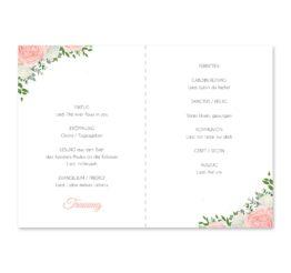 kirchenheft klappkarte hochzeit elegant rosen rosa weiß grün geometrie gold hochzeitsgrafik onlineshop papeterie