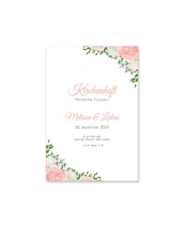 kirchenheft fächer hochzeit elegant rosen rosa weiß grün geometrie gold hochzeitsgrafik onlineshop papeterie
