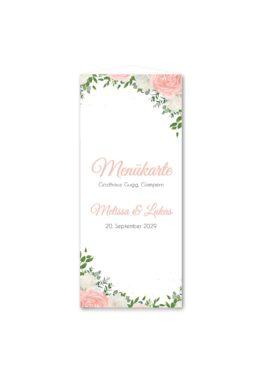 menükarte dreieck hochzeit elegant rosen rosa weiß grün geometrie gold hochzeitsgrafik onlineshop papeterie