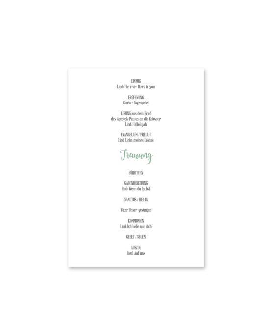 kirchenheft fächer hochzeit vintage watercolor blumenkranz greenery eucalyptus sukkulenten aquarell acryl hochzeitsgrafik onlineshop papeterie