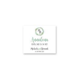 tischkarte hochzeit vintage watercolor blumenkranz greenery eucalyptus sukkulenten aquarell acryl hochzeitsgrafik onlineshop papeterie