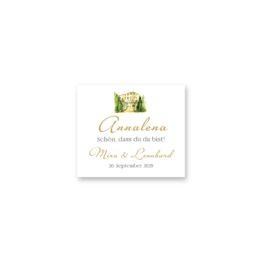 tischkarte hochzeit vintage watercolor toskana villa tuscany gold aquarell acryl hochzeitsgrafik onlineshop papeterie