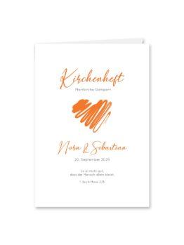 kirchenheft klappkarte hochzeit vintage herz liebe orange hochzeitsgrafik onlineshop papeterie
