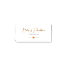tischkarte klappkarte hochzeit vintage herz liebe orange hochzeitsgrafik onlineshop papeterie