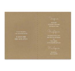 menükarte klappkarte hochzeit vintage kraftpapier kraft braun weiß weißdruck logo monogram berg herz hochzeitsgrafik onlineshop papeterie