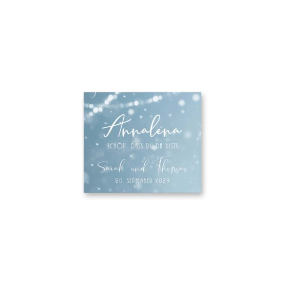 tischkarte hochzeit vintage winter landschaft bäume baum schnee eisblau lichterketten hochzeitsgrafik onlineshop papeterie