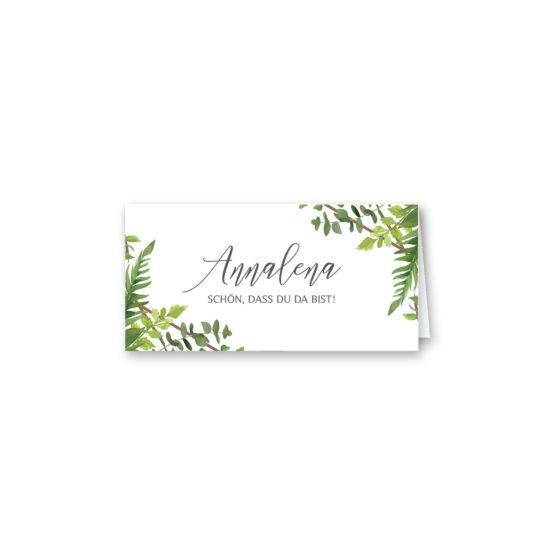 tischkarte klappkarte hochzeit vintage watercolor aquarell acryl greenery malerei geometrie rahmen gold hochzeitsgrafik onlineshop papeterie