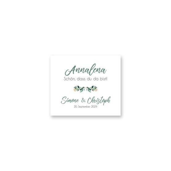 tischkarte hochzeit vintage watercolor aquarell acryl blumenkranz eucalyptus lachs monogramm logo hochzeitsgrafik onlineshop papeterie