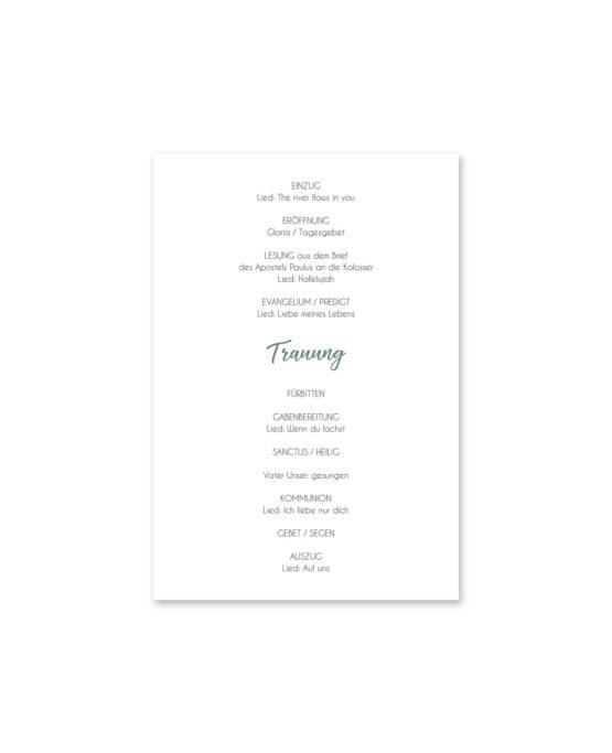 kirchenheft fächer hochzeit vintage watercolor aquarell acryl blumenkranz eucalyptus lachs monogramm logo hochzeitsgrafik onlineshop papeterie