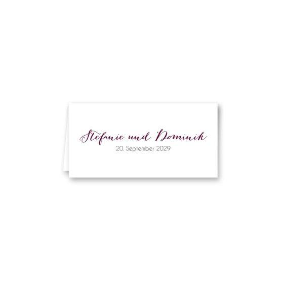 tischkarte klappkarte hochzeit vintage watercolor aquarell acryl blumen eucalyptus rosen rosa aubergine rot weinrot hochzeitsgrafik onlineshop papeterie