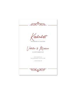 kirchenheft hochzeit fächer elegant ornament rot ringe gold eheringe königlich kaiser hochzeitsgrafik onlineshop papeterie