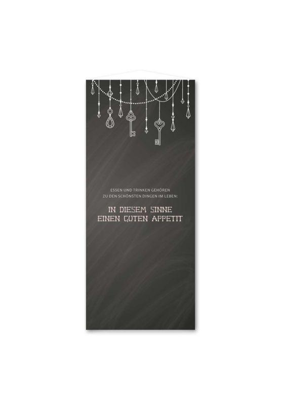 menükarte dreieck hochzeit vintage schlüssel chalkboard schwarz weiß skelett lichterketten luster hochzeitsgrafik onlineshop papeterie