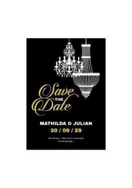 save the date elegant gold schwarz luster hochzeitsgrafik onlineshop papeterie