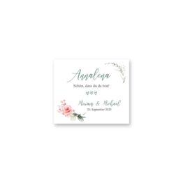 tischkarte hochzeit vintage blumenkranz rosa grau grün eucalyptus aquarell acryl hochzeitsgrafik onlineshop papeterie