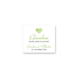 tischkarte dreieck hochzeit elegant herz ornament grün stilvoll hochzeitsgrafik onlineshop papeterie